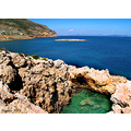 greece keratea kakithalassa blue sea rocks