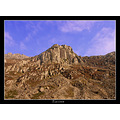 wales welsh mountain peak rock sky blue snowdonia