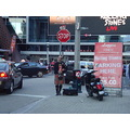 At 8:00pm.A Bagpiper-at Maple Leaf Square-outside the Real Sports Store-Toronto,Ont.,On Saturday,...