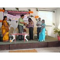 dhanasekar being honoured by the Chairman of the TSM Jain college of Technology