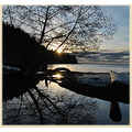 reflectionthursday sunset tunstal bay bowen island bc canada nikon d3000