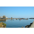 Cornwall Blue Harbour Sea Coast Water Boat Boats