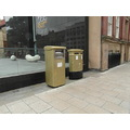 Nicola Adams gold post boxes in leeds