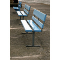 bench blue seat chair looe