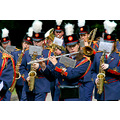 The Herdersem brass band on parade