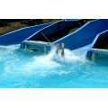 waterpark ride slide blue
