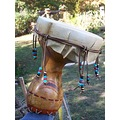handpainted beaded nativeamerican Drum gourds stoneakin woodburned