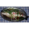 Steamed Japanese sea bass (Suzuki)