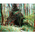anaglyph 3D stereo teepee indian park woods nature