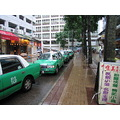 sai townscapes vehicles rain taxis kong kung hongkong hong