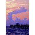 fishing pier fort lauderdale florida sunrise dawn morning clouds sea ocean beach