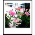 hiding behind the flowers..lol