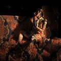 art portrait surreal people woman tapestry texture light shadow keitology