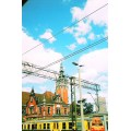 coming back home from holidays, by train - here: the railway station in Gdansk, Poland