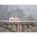 For lossieloon.  Another bus crossing the bridge on the road to Gorka, from Manakamana in Nepal ...