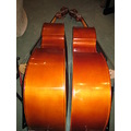 Comparison - Billy, on the right, my own double bass, met a cousin today which I ordered for a pu...