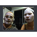 """not halloween   following the latest trend of """"selfies"""" with a cell phone"""