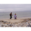 My brother Bruce, playing on the beach with two of my grandchildren .  This is in Nova Scotia.   ...
