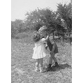 This is the original; a treasured photo in my husband's family. Taken in 1948 of his mom and a mu...
