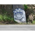 This graffiti figure appears in many guises around Dunedin City.