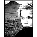 me selfportrait iceland woman mountain bw blackandwhite
