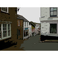 0133 Fowey Manipulated Cornwall UK Street Road