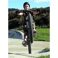 mtb mountainbike boy wheelie skatepark