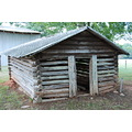 log cabin chicken house
