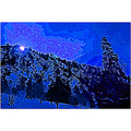 winter snow mountains sky calif landscape abstract ps