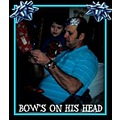 Christmas family dad father bows holiday