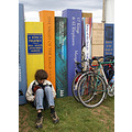 A quiet corner at Hay Festival...