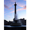 nelson column trafalgar square london dusk twilight