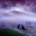 surreal landscape violet blue dream dark fantasy card series voltrik keitology