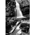 waterfall BW