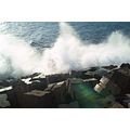 Madeira Portugal 2007 jardimdomar shore coast sun ocean light wave splash