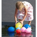 girl with water balloons