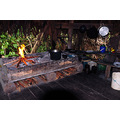 Cocina en el campamento Simoina en el delta del Orinoco.