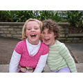 Matilde and scarlett laughing