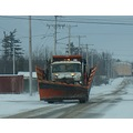 "Snowplow...this is a big bad boy... the ""wings"" on its sides drop down and it can plow 2 and half..."