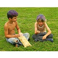 boys spraypainted hair kettlecorn