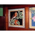 9/9 Tiles at the Jackfield Tile Museum, Ironbridge  One of two tiles from the sideboard two sho...