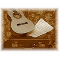 antique music sepia