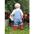 child England chickens red wellingtons