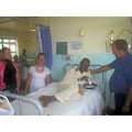 zanie van den berg visiting the hospital