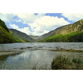 Glendalough lake sky cloud water Ireland
