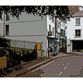 0143 Manipulated Fowey Cornwall UK Street Road People