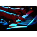 blues music hands keyboard