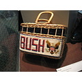 First Lady, Laura Bush's hand-made basket on display in the presedential library/museum.