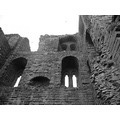 Scarborough Castle Black White