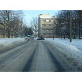 snow winter street riga latvia city scape landscape car cars ice asphalt